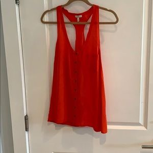 Joie orange silk tank